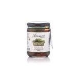 Bild zeigt mit Knoblauch marinierte Oliven von spanissimo
